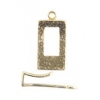 Brass Hook & Eye Rectangle 20x12mm